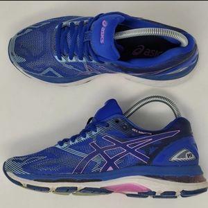 Asics Gel Nimbus 19 Running Shoes T750N sz 7 Blue
